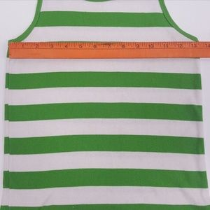 Faded Glory Shirts & Tops - FADED GLORY Girls Striped Green White Tanks
